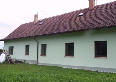 Oprava fasády venkovského domu